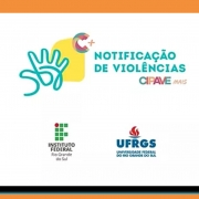 LOGOTIPOS DA  CIPAVE+, DA UFRGS E DO INSTITUTO FEDERAL